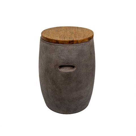 Sabah Stool with Timber Top