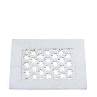 Marble Grill Soap Dish White