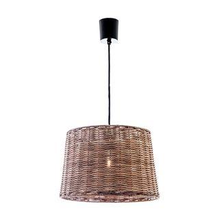 Rattan Round Hanging Lamp Small
