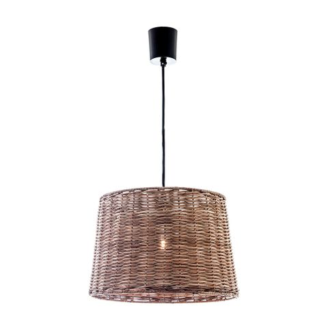 Rattan Round Hanging Lamp Small