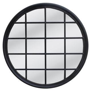 Hamptons Round Mirror 1.2x1.2m Black