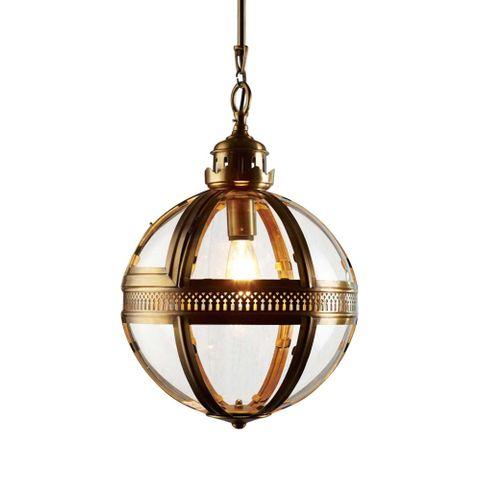 Saxon Pendant Lamp Sml Antique Brass