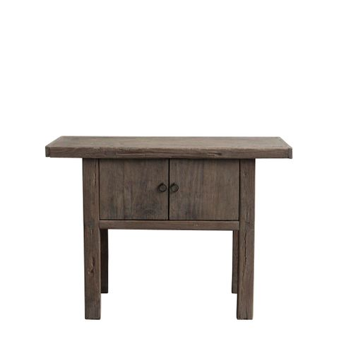 Shanxi Elm 120 Year Antique Wooden Side Table No. 6