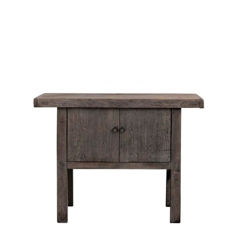 Shanxi Elm 120 Year Antique Wooden Side Table No. 10