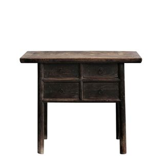 Shanxi Elm 120 Year Antique Wooden Side Table 11