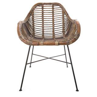 Rattan Chair Iron Natural