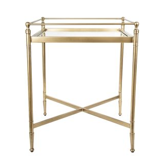 Side Table Antique Brass