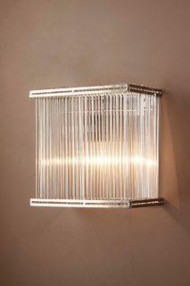 Verre Rectangular Wall Light Silver