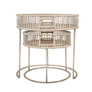 Round Table Set of 2 Bahama Grey