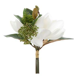 Magnolia Bouquet 30cm Green & White
