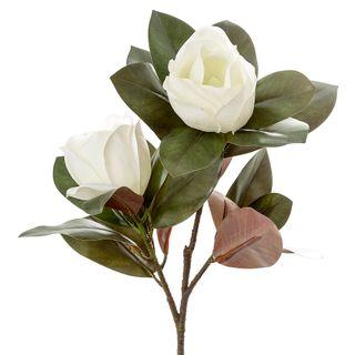 Magnolia Large 2 Heads 85cm White
