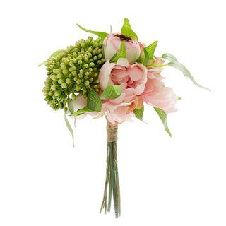 Peony Hydrangea Ranunculus Bouquet 27cm Pink