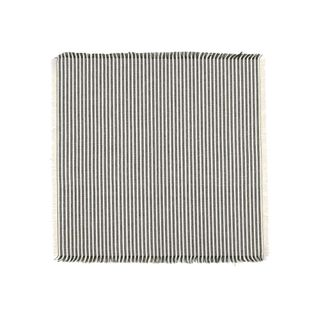Abby Stripe Napkin 2 side Set of 4  Olive