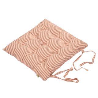 Abby Stripe Seat Cushion Terracotta