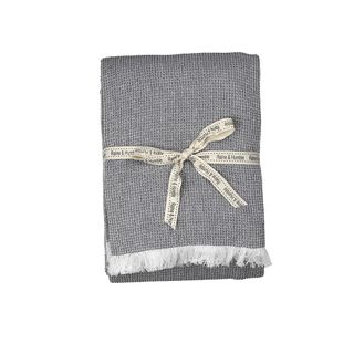 Chambray Waffle Throw Charcoal