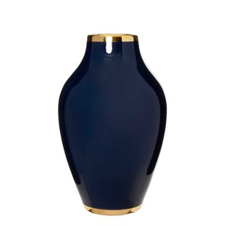 Midnight Gild Vase Navy Blue