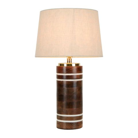 Manly Wooden Table Lamp Base
