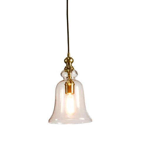 Tivoli Glass Overhead Lamp Small in Brass