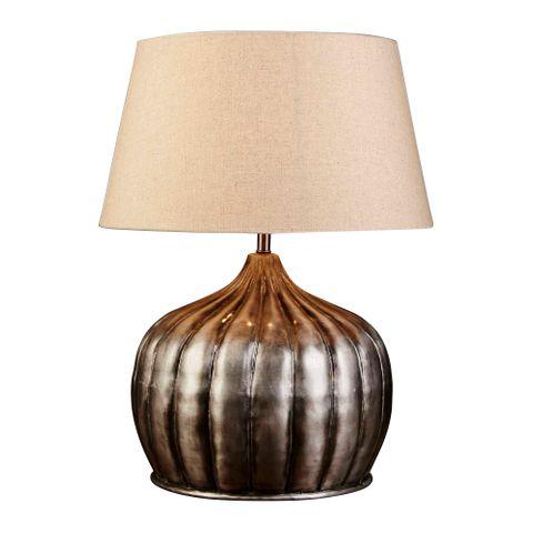 Pumpkin Table Lamp Base in Silver