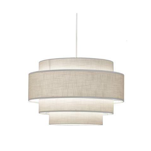 Geneva Pendant Lamp White Linen