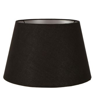 Linen Taper Lamp Shade XXL Black with Silver Lining