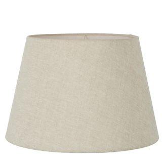 Linen Taper Lamp Shade XXL Light Natural