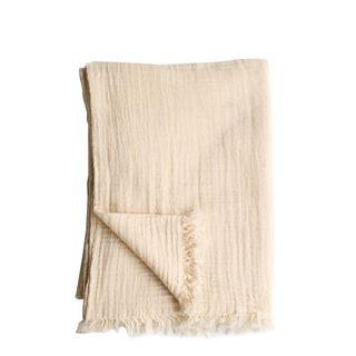 Soft Cotton Throw Natural