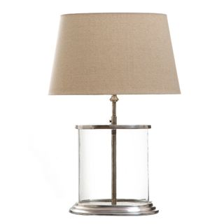 Seapoint Table Lamp Base Glass and Antique Silver