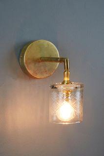 Scotch Glass Wall Light - Clear - Hand Cut Scotch Glass Pendant Light
