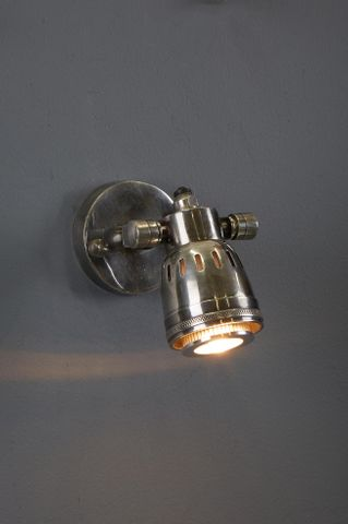 Hanover Wall - Antique Silver - Solid Brass Short Arm Wall Lamp