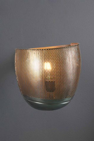 Riva Wall - Zinc - Perforated Iron Wall Sconce