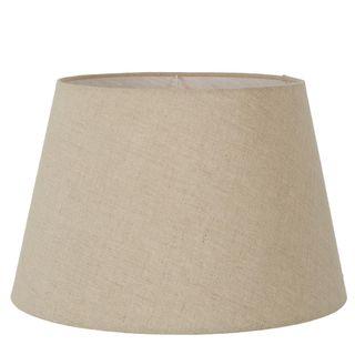 Linen Taper Lamp Shade XXL Dark Natural Linen