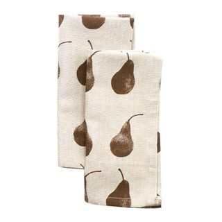 Pear  Napkin Set of 4 Earth Brown