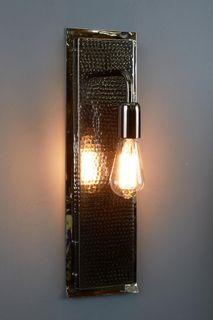 Felix - Hammered Rectangular Wall Light  - Nickel