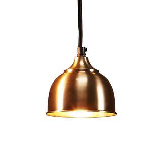Kaya - Nickel - Small Contemporary Dome Pendant Light