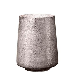 Montmartre - Pewter - Small Cylinder Art Glass Table Lamp