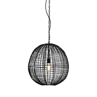 Cray Ball Medium - Black - Wire Weave Ball Pendant Light