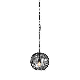 Cray Ball Small - Black - Wire Weave Ball Pendant Light