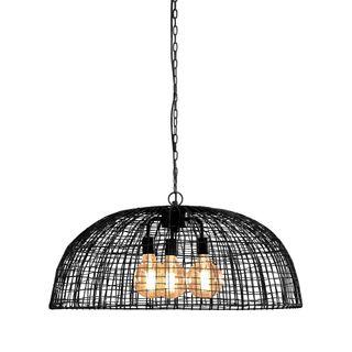 Cray Dome - Black - Wire Weave Dome Pendant Light