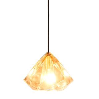Graff - Champagne - Small Faceted Glass Droplet Pendant Light