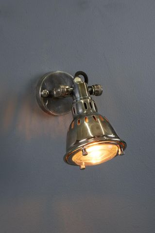 Hamburg - Brass Wall Lamp - Antique Silver