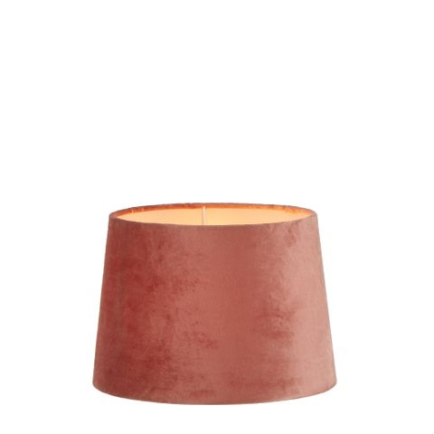 XS Drum Lamp Shade (10x8.5x7 H) - Rose Pink - Velvet Lamp Shade with E27 Fixture