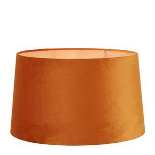 Velvet Drum Lamp Shade XL Burnt Orange