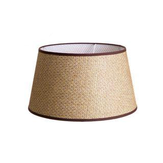 Basket Weave Taper Lamp Shade Medium Brown