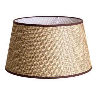 Basket Weave Taper Lamp Shade XL Brown