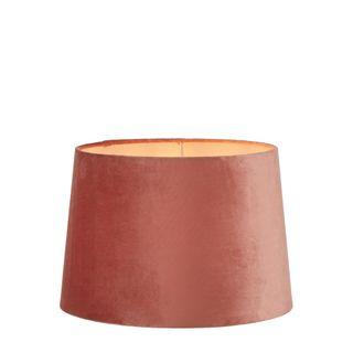 Velvet Drum Lamp Shade Medium Rose Pink