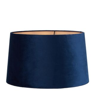Velvet Drum Lamp Shade XL Royal Blue