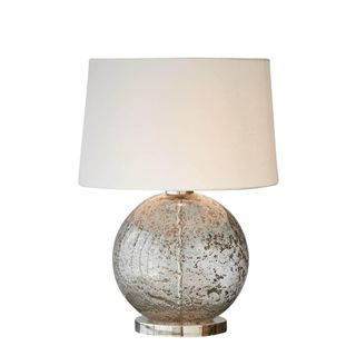 Lustre Ball Table Base Only - Clear - Stone Effect Glass Ball Table Lamp Base Only