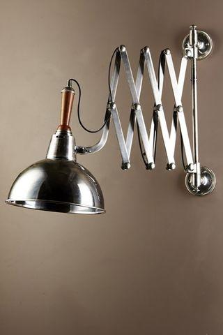 Rosendal Wall Scissor Lamp Silver