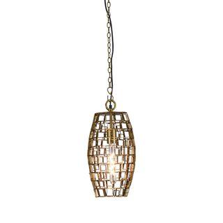 Dali Small - Antique Brass - Small Oval Geometric Pendant Light